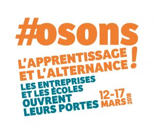 Mademoiselle Associée - Logo #osons l'apprentissage et l'alternance!